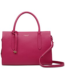 Small Zip-Top Convertible Leather Bag