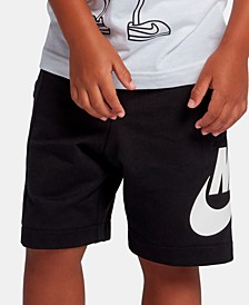 Little Boys Logo-Print French Terry shorts