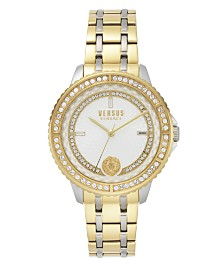 Versus Versace Montorgueil Two-Tone Metal Bracelet 44MM Watch