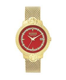 Versus Versace Ladies Mouffetard Yellow Gold Mesh Strap Watch 38MM