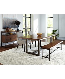 Everly Live Edge Dining Furniture Collection, Created for Macy's