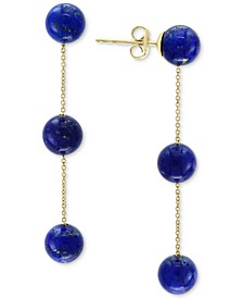 EFFY® Lapis Lazuli (6mm) Triple Drop Earrings in 14k Gold (Also in Onyx)