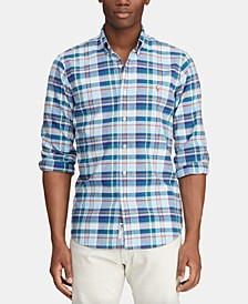 Men's Big & Tall Classic Fit Plaid Shirt