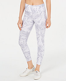 Calvin Klein Performance Bamboo-Print High-Rise Leggings