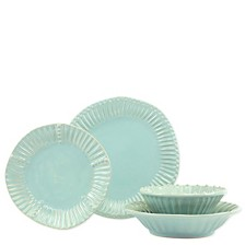 Vietri Incanto Stone Stripe 4 Piece Place Setting