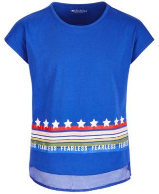 Big Girls Mesh-Trim Graphic-Print T-Shirt, Created for Macy's