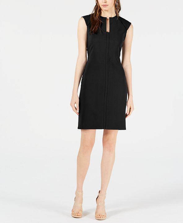 Bar III Split-Neck Bodycon Dress, Created for Macy's