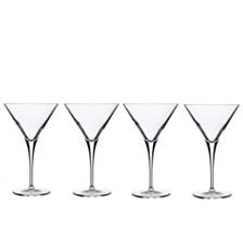 Luigi Bormioli Glassware, Set of 4 Crescendo Martini Glasses