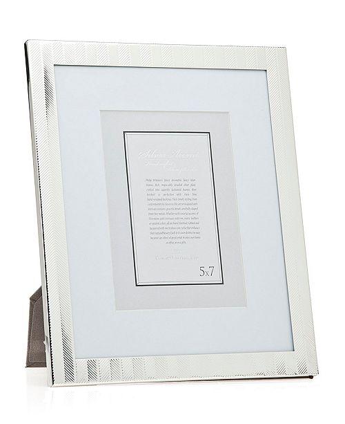 Philip Whitney Silver Herringbone Frame - 8 x 10