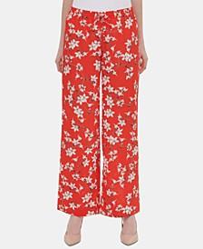 Floral-Print Soft Pants