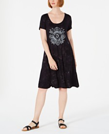 Style & Co Graphic T-Shirt Dress, Created for Macy's