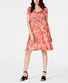 Graphic Tie-Dyed Dress, Created for Macy's