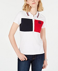 Short-Sleeve Colorblocked Polo Top, Created for Macy's