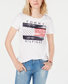 Tommy Hilfiger Logo-Graphic Top, Created for Macy's