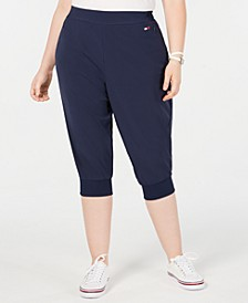 Plus Size Cropped Jogger Pants