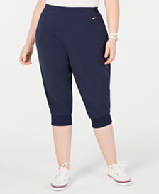 Tommy Hilfiger Sport Plus Size Cropped Jogger Pants