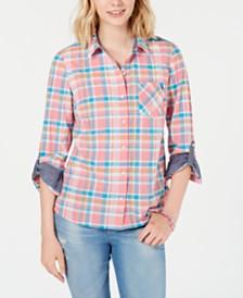 Tommy Hilfiger Check-Print Button-Down Shirt