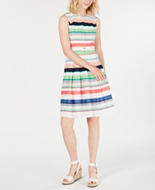 Tommy Hilfiger Cotton Striped Dress