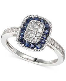 Sapphire (5/8 ct. t.w.) & Diamond (1/4 ct. t.w.) Statement Ring in 14k Gold