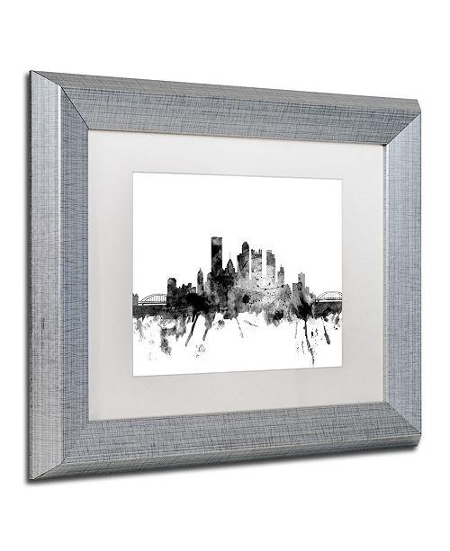 Home Decor Pittsburgh Pa: Trademark Global Michael Tompsett 'Pittsburgh PA Skyline B