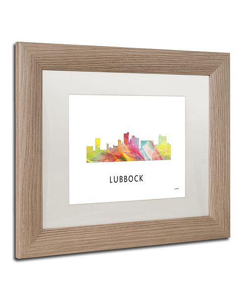Trademark Global Marlene Watson 'Lubbock Texas Skyline WB