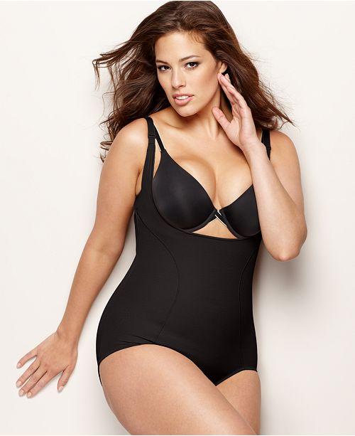 ea52ee9f949 Maidenform Plus Size Firm Control Wear Your Own Bra Open Bust Body Shaper  12657