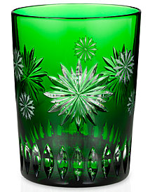 Waterford Drinkware, Snowflake Wishes for Courage Double Old Fashioned Glass Prestige Edition