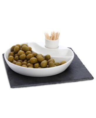 White Basics Slate 3-Piece Olive Serving Set