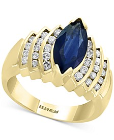 EFFY® Sapphire (2-1/10 ct. t.w.) & Diamond (1/2 ct. t.w.) Ring in 14k Gold