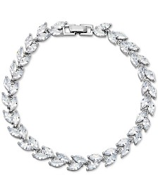 Giani Bernini Cubic Zirconia Marquise Tennis Bracelet in Sterling Silver, Created for Macy's