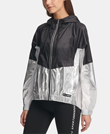 DKNY Sport Colorblocked Hooded Jacket