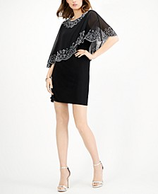 Embellished Overlay Sheath Dress, Created for Macy's