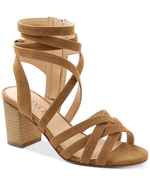 XOXO Eden Block-Heel Dress Sandals