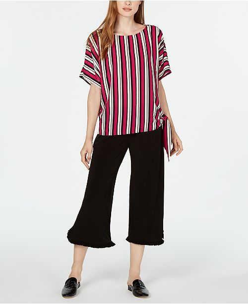 Michael Kors Striped Top & Cropped Pants