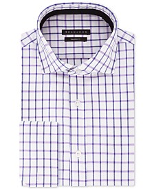 Sean John Men's B&T Classic/Regular-Fit Check French Cuff Dress Shirt