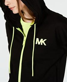MICHAEL Michael Kors Neon Zip-Front Hoodie