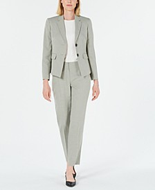 Striped Two-Button Pantsuit