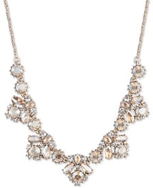 """Marchesa Crystal Cluster Collar Necklace, 16"""" + 3"""" extender"""