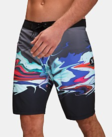 "Hurley Men's Phantom Voodoo Stretch Quick-Dry Abstract-Print 20"" Board Shorts"