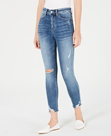 FLYING MONKEY Juniors' High-Rise Cropped Skinny Jeans