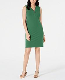 Zip-Neck Dress, Created for Macy's