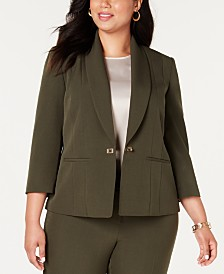 Kasper  Plus Size Turn-Key Blazer