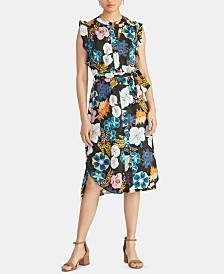 RACHEL Rachel Roy Ria Floral-Print Shirtdress