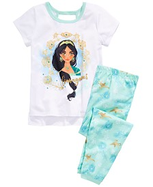 AME Little & Big Girls 2-Pc. Aladdin Top & Bottom Pajama Set