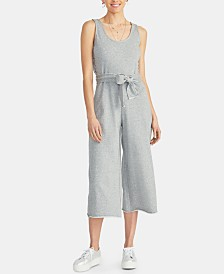 RACHEL Rachel Roy Natia Lace-Up Cropped Jumpsuit