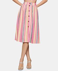 BCBGeneration Button-Front A-Line Skirt
