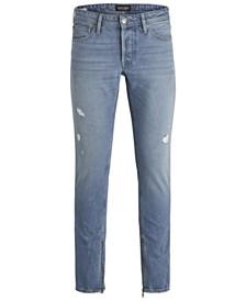 Jack and Jones Men's Slim Fit Light Glenn Jeans With Zipped Ankles