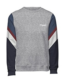 Jack and Jones Men's Sweatshirt With Retro Style Sleeves