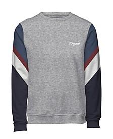 Jack and Jones Men's Sweatshirt With Retro Style Sleeves