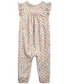 Polo Ralph Lauren Baby Girls Floral One-Piece Romper
